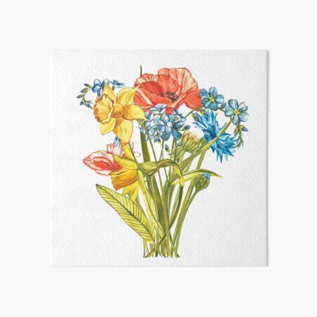 Gardenflowers Art Board Print