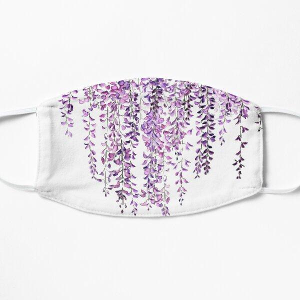 purple wisteria  in bloom  Flat Mask