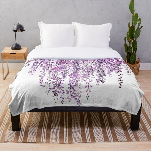 purple wisteria  in bloom  Throw Blanket