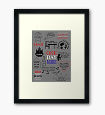 Les Miserables Quotes Framed Print