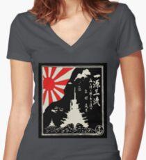 Battleships of the Imperial Japanese Navy Women's Fitted V-Neck T-Shirt