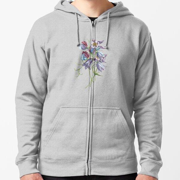 Gardenflowers Zipped Hoodie