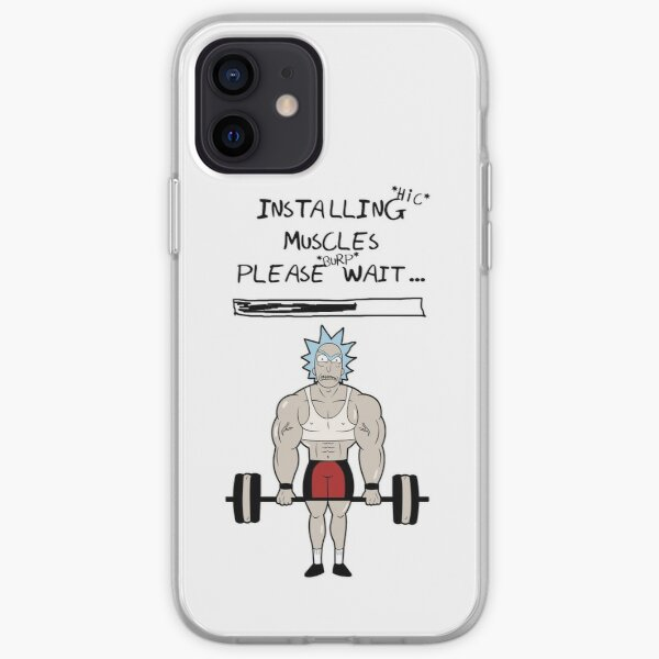 Rick and Morty. Installing muscles. iPhone Soft Case