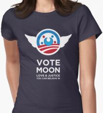 Moon President Power Women's Fitted T-Shirt