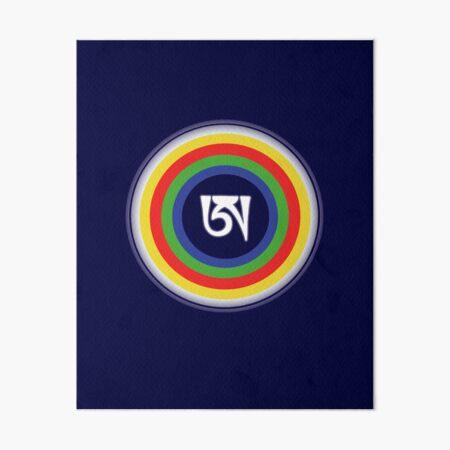 Dzogchen Symbol Tibetan Letter A Buddha Meditation Mandala  Art Board Print