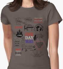 Les Miserables Quotes Women's Fitted T-Shirt