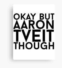 Aaron Tveit Canvas Print