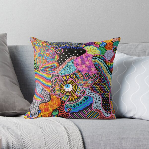 Thought Broadcasting Throw Pillow