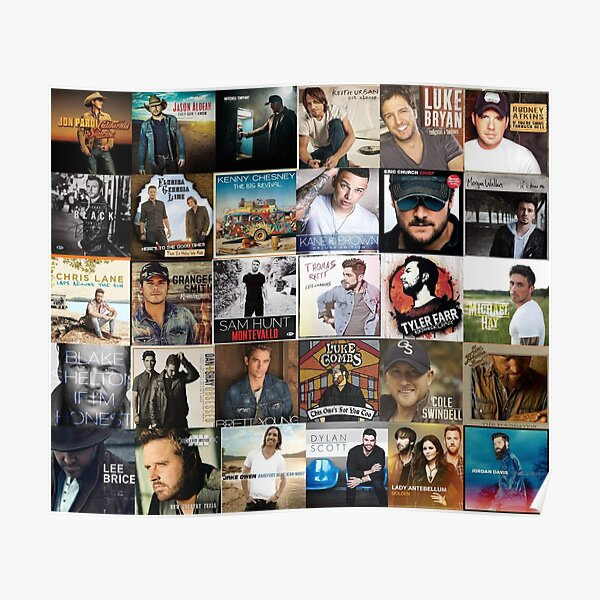 country music collage Poster