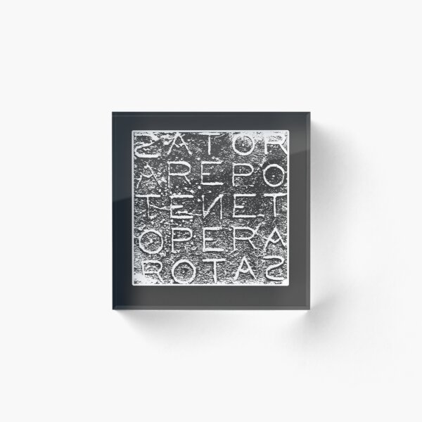 Sator Rotas Magic Latin Word Occult Square  Acrylic Block