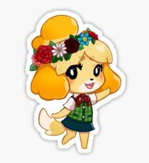 Flower pup Isabelle Sticker