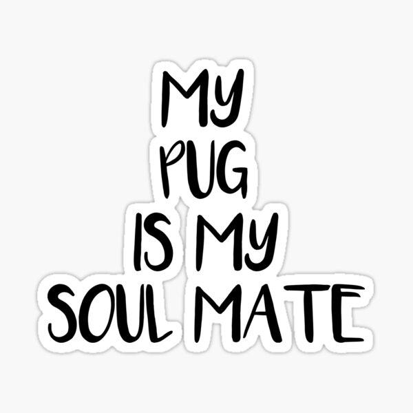 My Pug is My Soul Mate Sticker