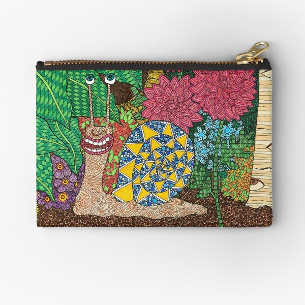 Snail's Eye View Zipper Pouch