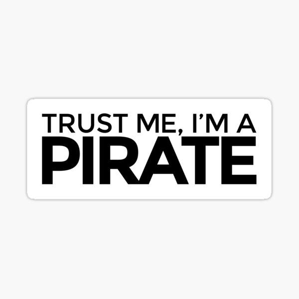 Ich bin ein Pirat Sticker