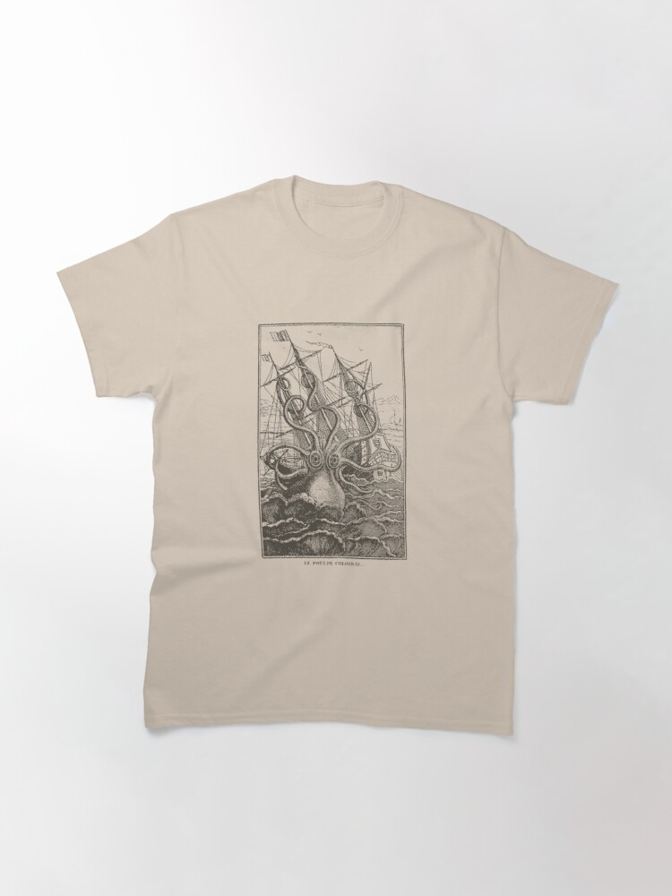 Alternate view of Colossal Octopus Kraken Attacking Ship Sea Monster  Classic T-Shirt