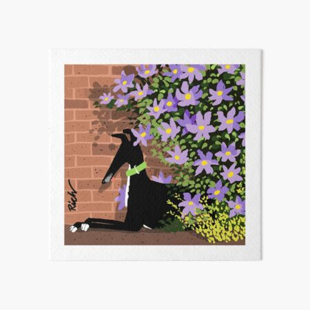 In the Shade of the Clematis Art Board Print