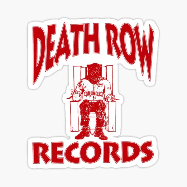 Death Row Records Logo Red Sticker