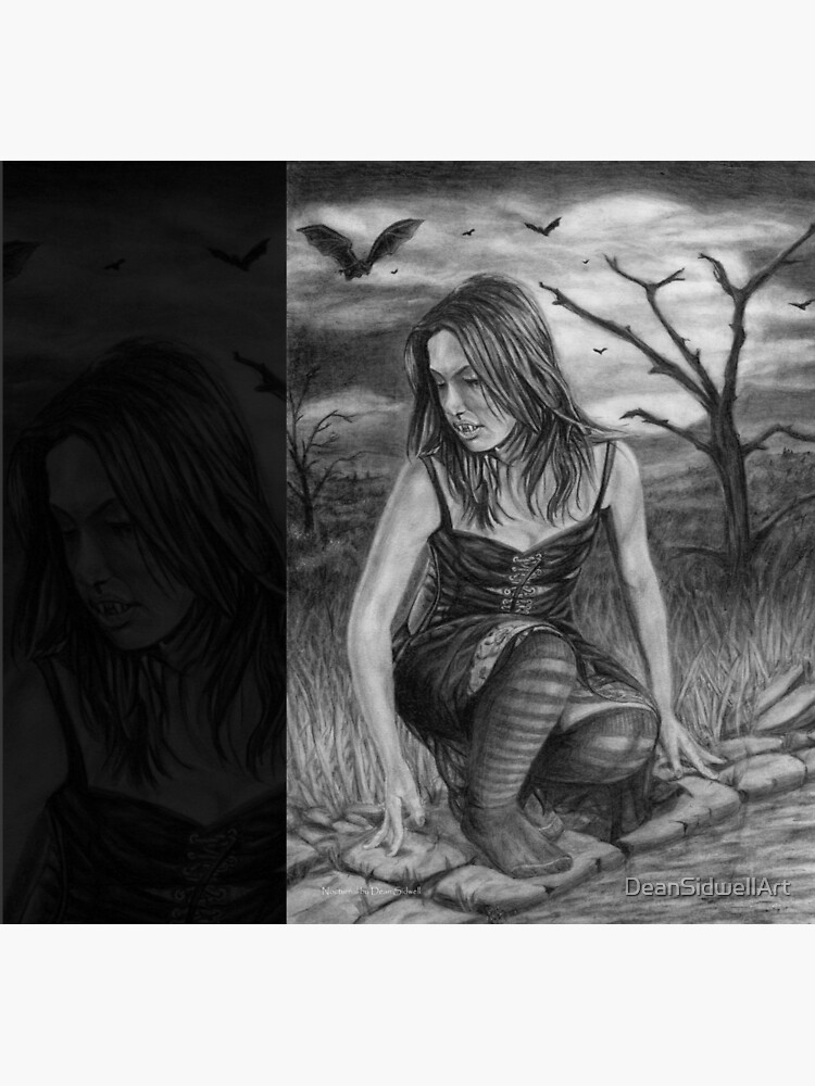 Nocturnal: Original drawing by Dean Sidwell by DeanSidwellArt