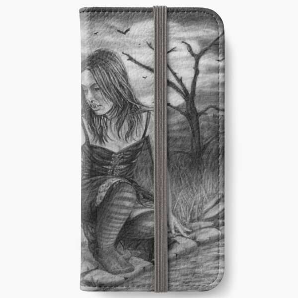 Nocturnal: Original drawing by Dean Sidwell iPhone Wallet
