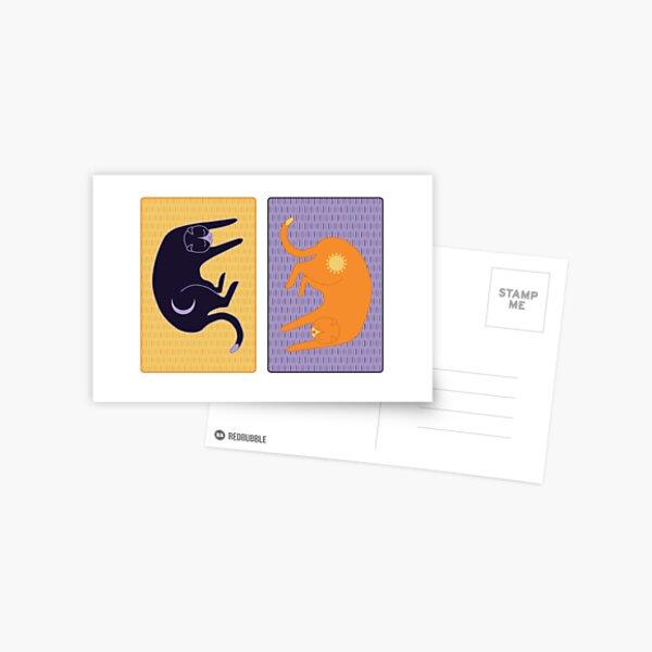 Moon and Sun Cats Postcard