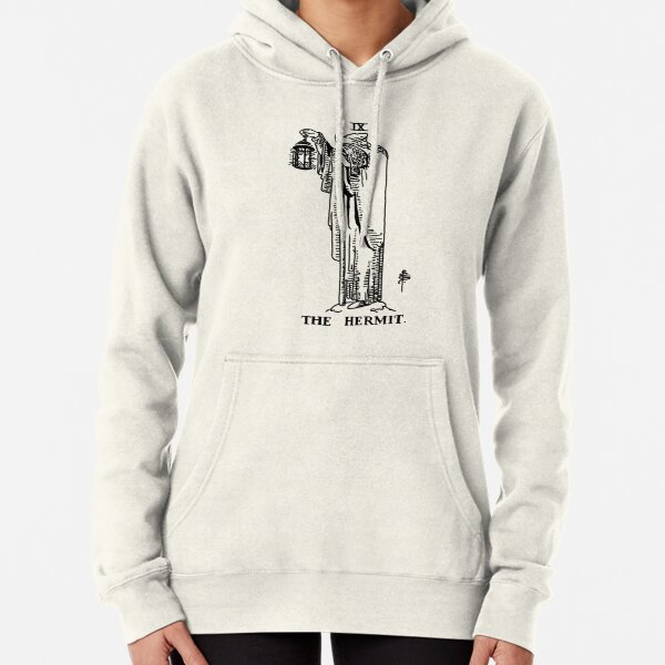 The Hermit Tarot Card Pullover Hoodie