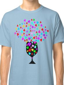 ۞»♥Drink Love: A Glass of Romantic Hearts Clothing & Stickers♥«۞ Classic T-Shirt