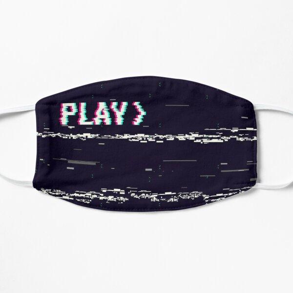 VHS Play Glitch Mask
