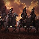 Four French Cuirassiers by Larry Oates