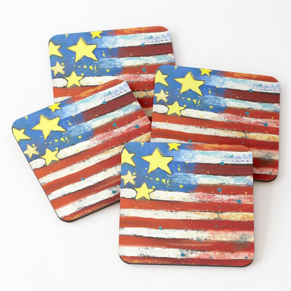 Star Spangled Banner Coasters (Set of 4)