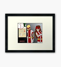 NYCC Competition Entry - RedBoy and BubbleGirl Framed Print