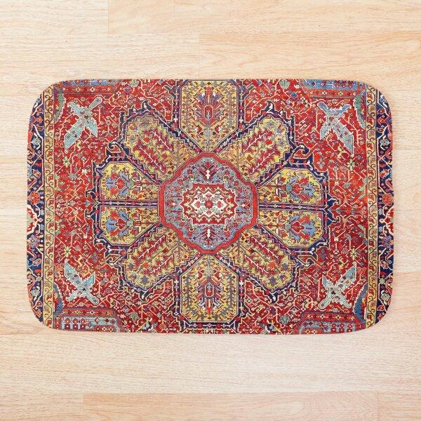 Heriz Azerbaijan Northwest Persian Carpet Print Bath Mat