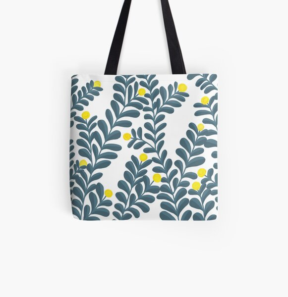 Pop of Yellow All Over Print Tote Bag