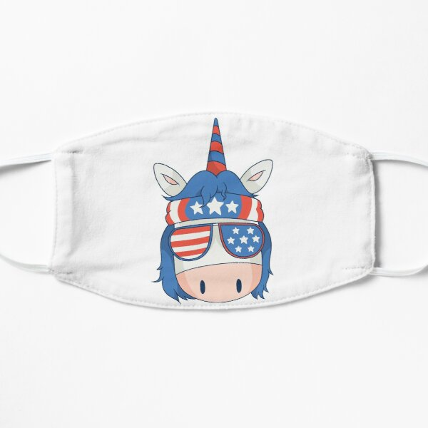 unicorn chef bbq fun is a great gift for chefs and cooking or barbecue lovers Flat Mask