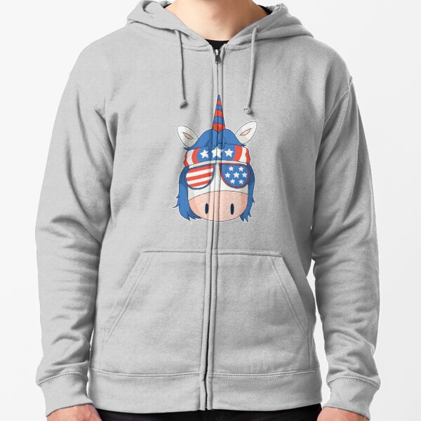 unicorn chef bbq fun is a great gift for chefs and cooking or barbecue lovers Zipped Hoodie