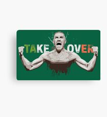 Conor McGregor. Take Over. Amazing trending design. Canvas Print