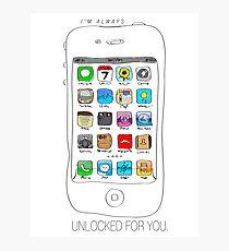 Phone illustration Photographic Print
