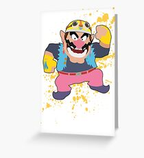 Wario - Super Smash Bros Greeting Card
