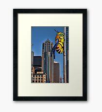 Galaga Bee Framed Print