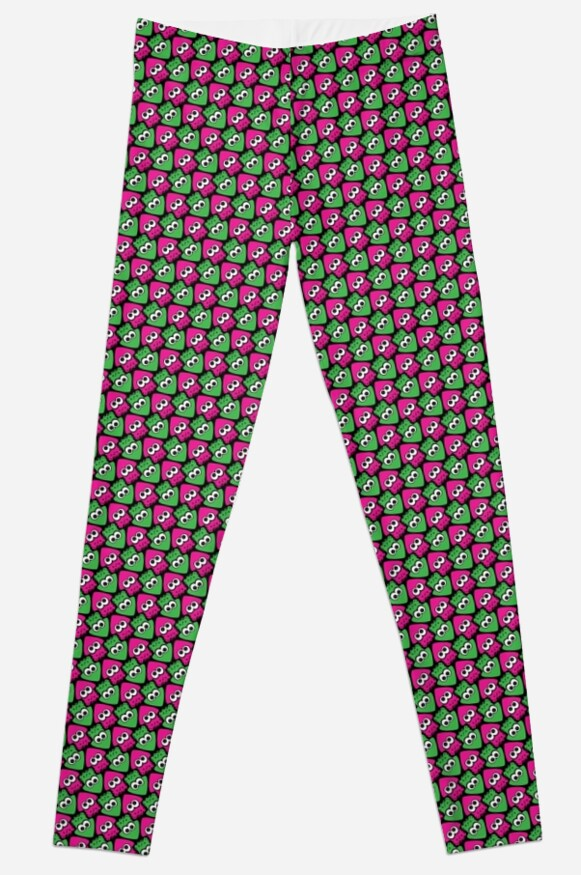Tessellating Squid - Pink and Green by Fletcher-Fox