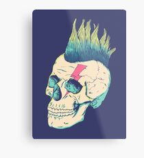 Skull Punk Metal Print