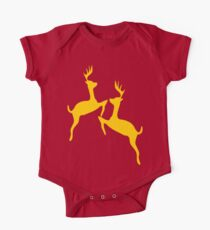 ۞»♥Golden Jumping Deer Couple Clothing & Stickers♥«۞ One Piece - Short Sleeve