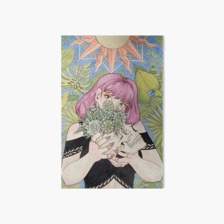 Succulent Witch with Skull Art Board Print
