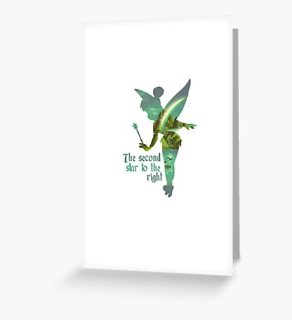 Tinkerbell Silhouette Greeting Card
