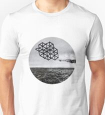 Landscape of Geometry Circular Sticker Unisex T-Shirt