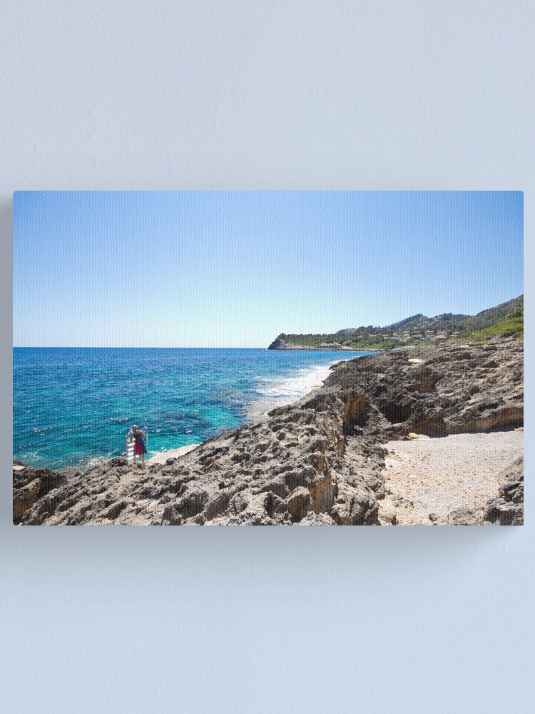 Alternate view of How to be one with the Sea Canvas Print