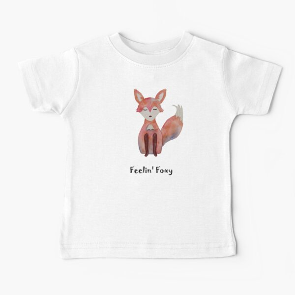 Feelin Foxy, Cute Fox, original watercolor ashleyvanart Baby T-Shirt