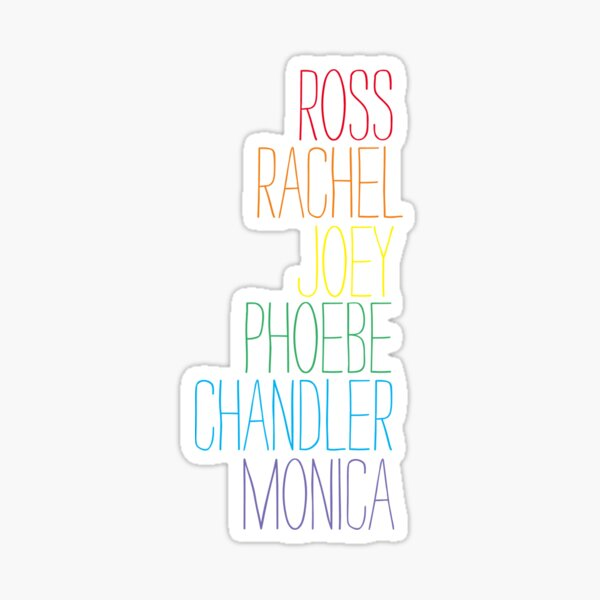 Friends Rainbow Names Sticker
