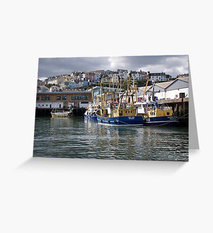 Brixham Trawlers Greeting Card