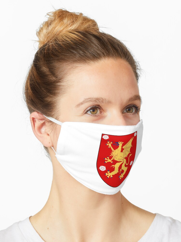 Ostergotland Coat Of Arms Sweden Mask By Tonbbo Redbubble