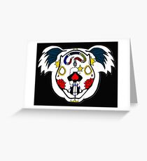 Day of the Dead Koala Greeting Card